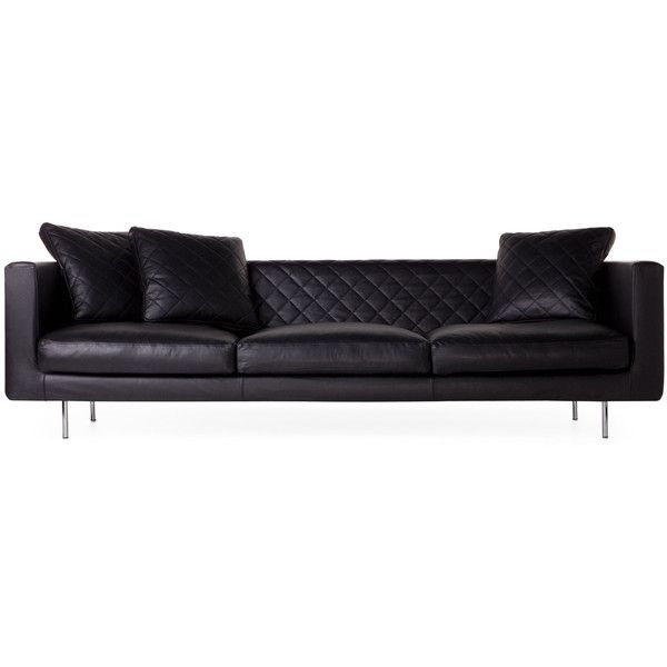 Chaise Lounge Sofa Moooi Boutique Leather Triple Seater Sofa BRL liked on Polyvore featuring home