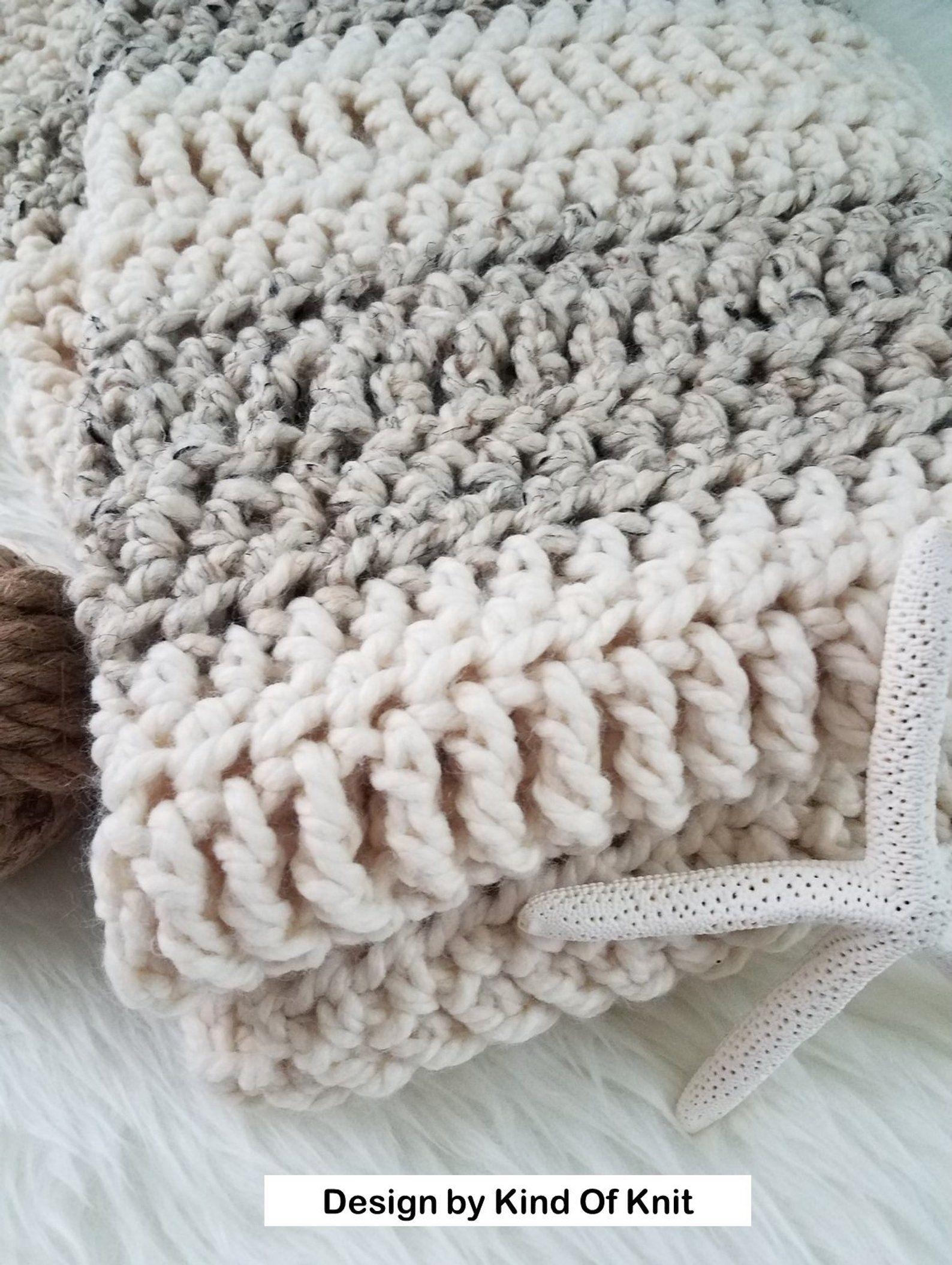 Crochet Pattern Oregon Chunky Easy Afghan Crochet Crochet Etsy Chunky Crochet Blanket Pattern Chunky Blanket Pattern Chunky Crochet Blanket