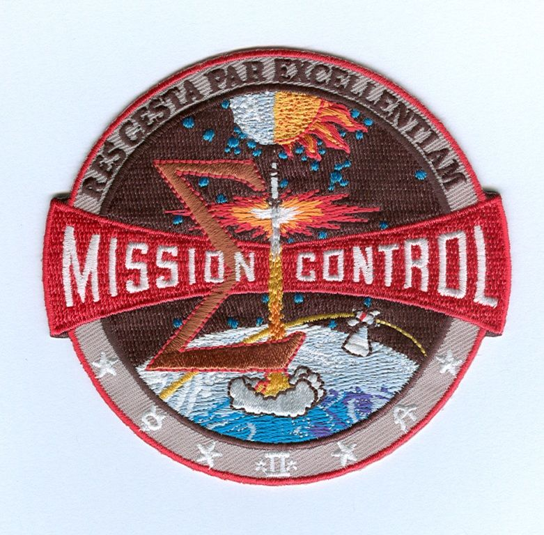 Mission Patches On Mission 4 To The International Space: Apollo NASA Mission Control Patch