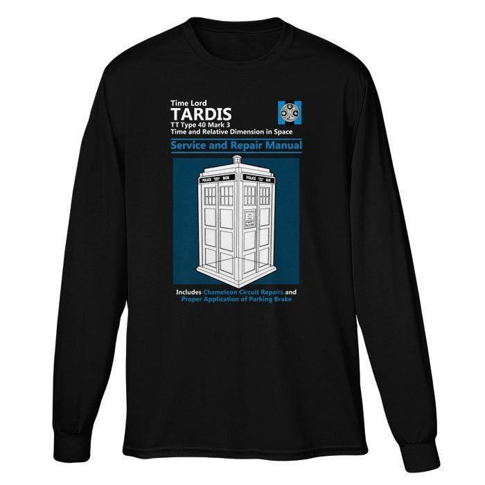 Tardis service and repair manual long sleeve t shirt unisex tardis service and repair manual long sleeve t shirt unisex fandeluxe Gallery