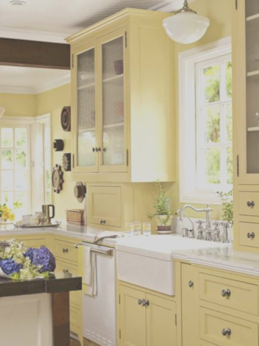 15 Gorgeous Yellow Kitchen Designs In 2020 Yellow Kitchen Walls Yellow Kitchen Yellow Kitchen Decor