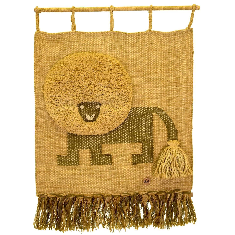 Large Lion Textile Art by Don Freedman for Interlude   Largest lion ...