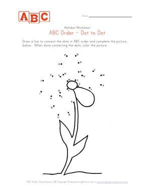 abc flower dot to dot
