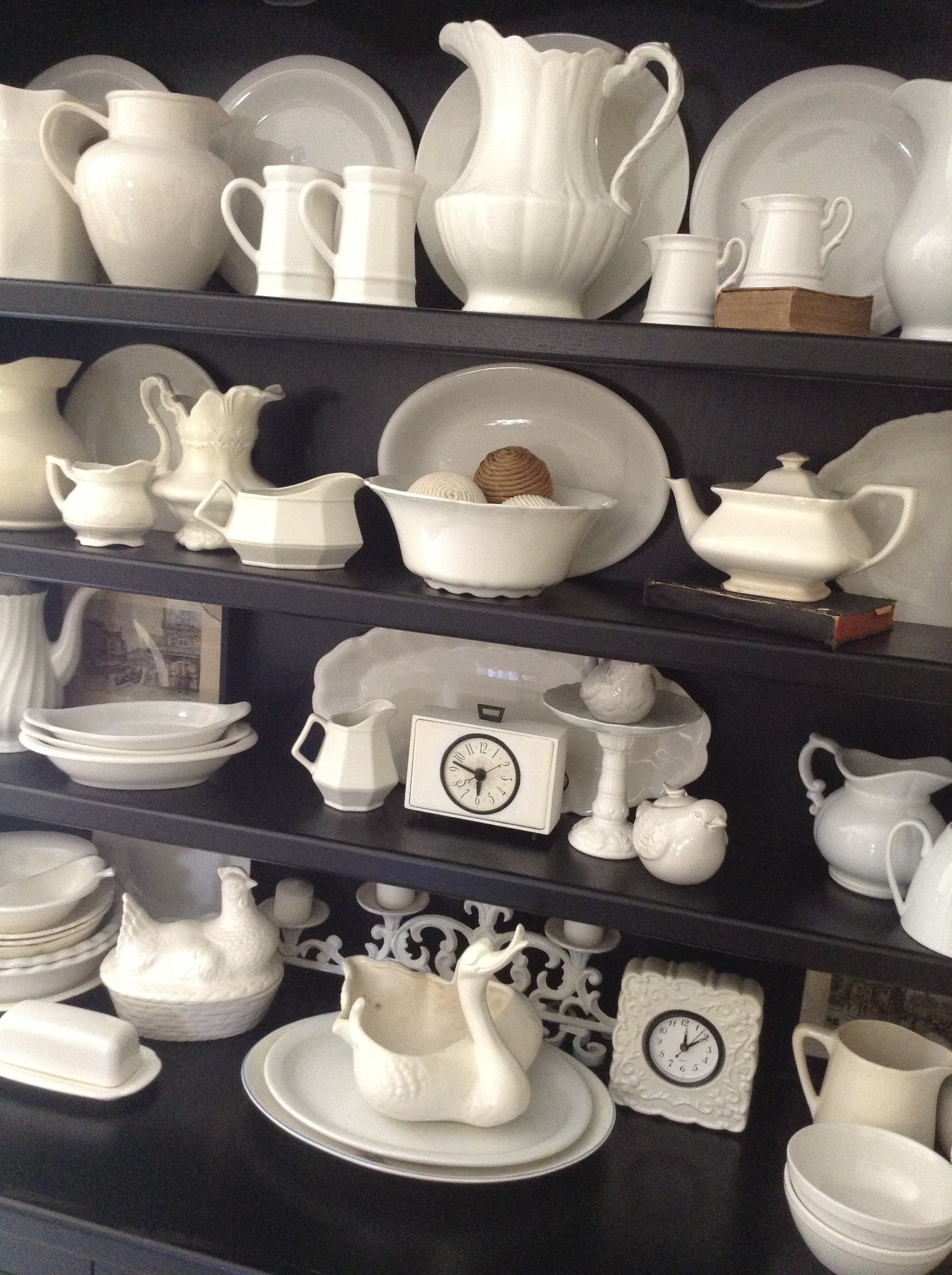 Vintage ironstone collection.