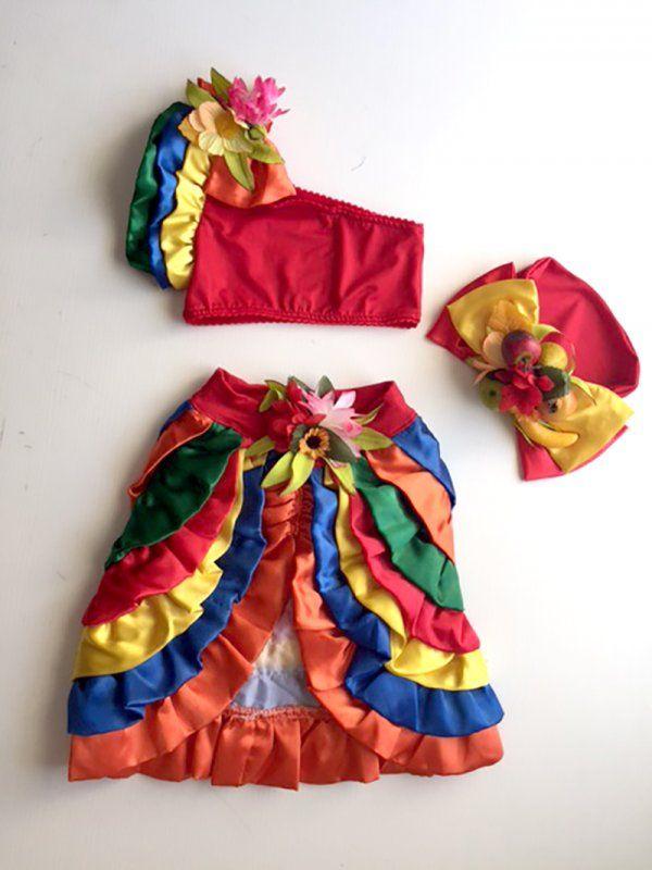 9b1ef064a0 Votrakina - Carmen Miranda Fantasias Infantil Menino, Vestido Infantil  Festa, Fantasias Infantis Carnaval,
