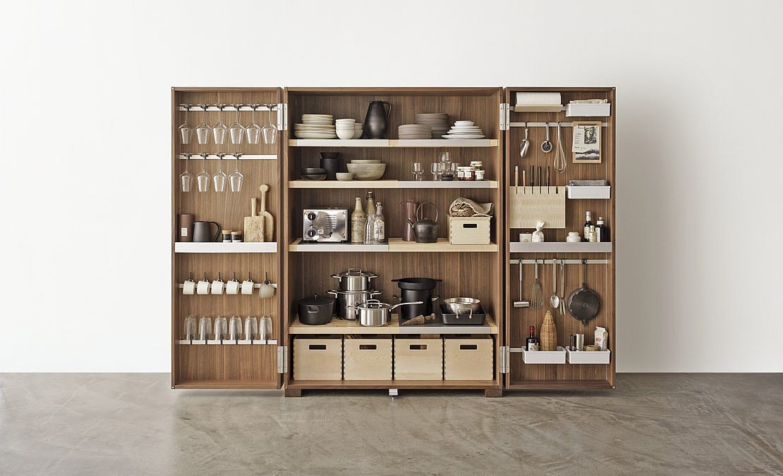 Bulthaup B2 Turns Kitchens Into Workshops With An Abundance Of Freedom To Move And A Unique Kitchen Workshop Kitchen Cabinet Design Functional Kitchen Storage