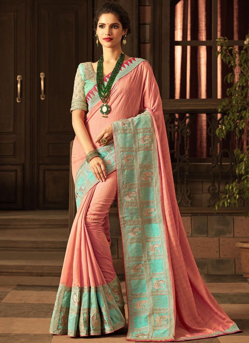 d9937614ea992 Buy Peach Color Silk Saree Online