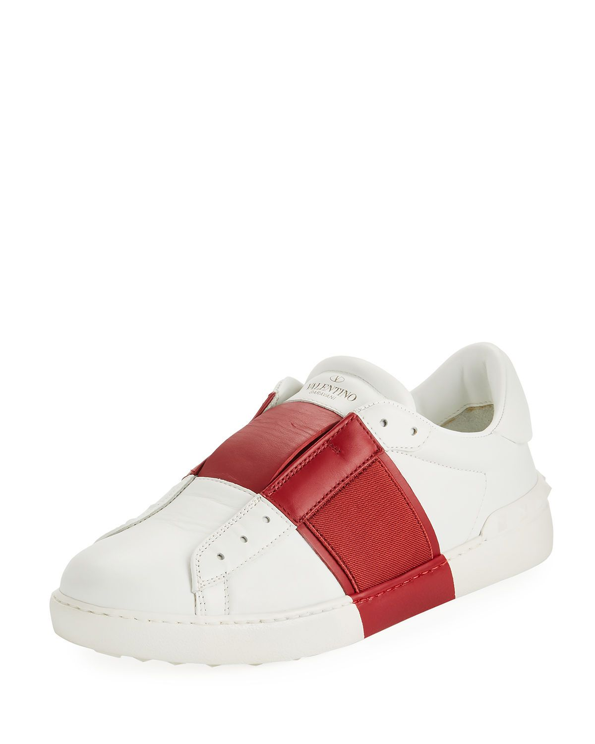 0372a1d9eebfe VALENTINO MEN'S WIDE-STRIPE LOW-TOP SNEAKERS. #valentino #shoes ...