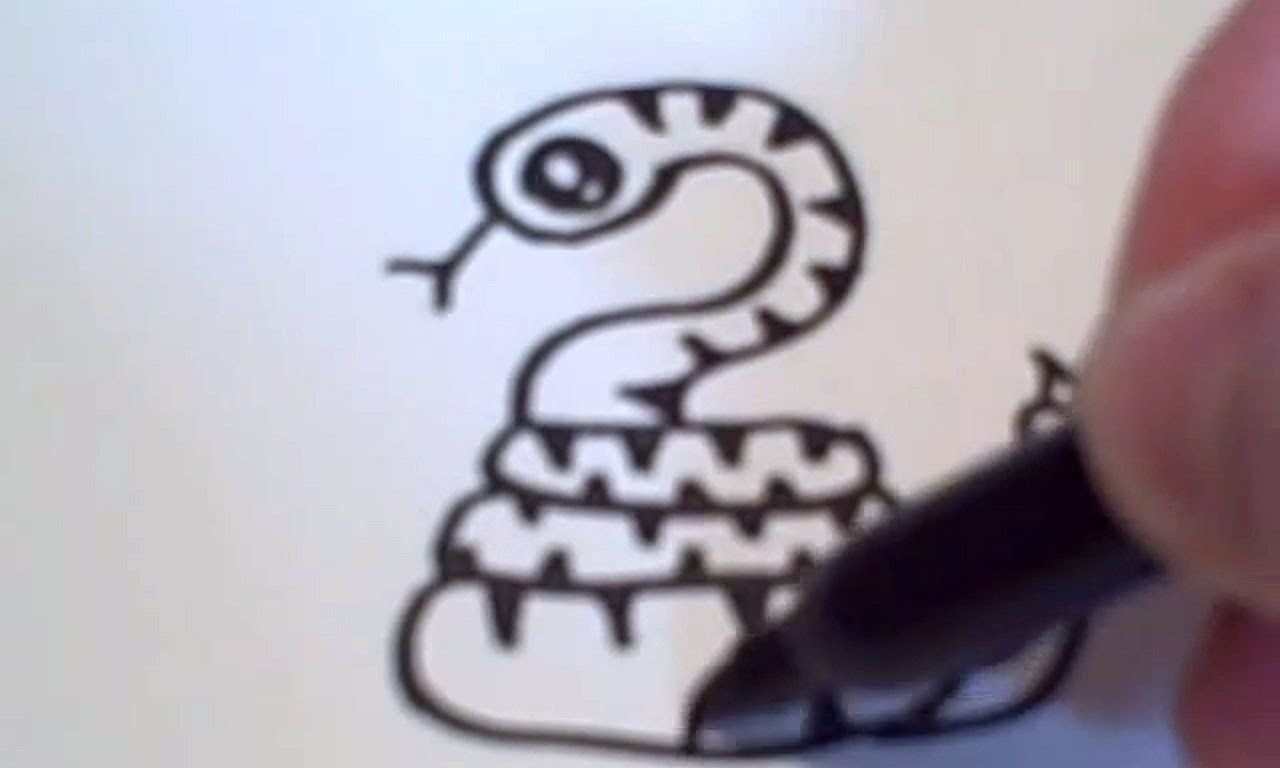How To Draw A Cartoon Snake Snake Sketch Snake Drawing Drawings