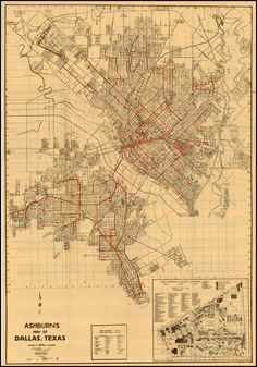 Ashburn\'s Map of Dallas Texas - Barry Lawrence Ruderman Antique Maps ...