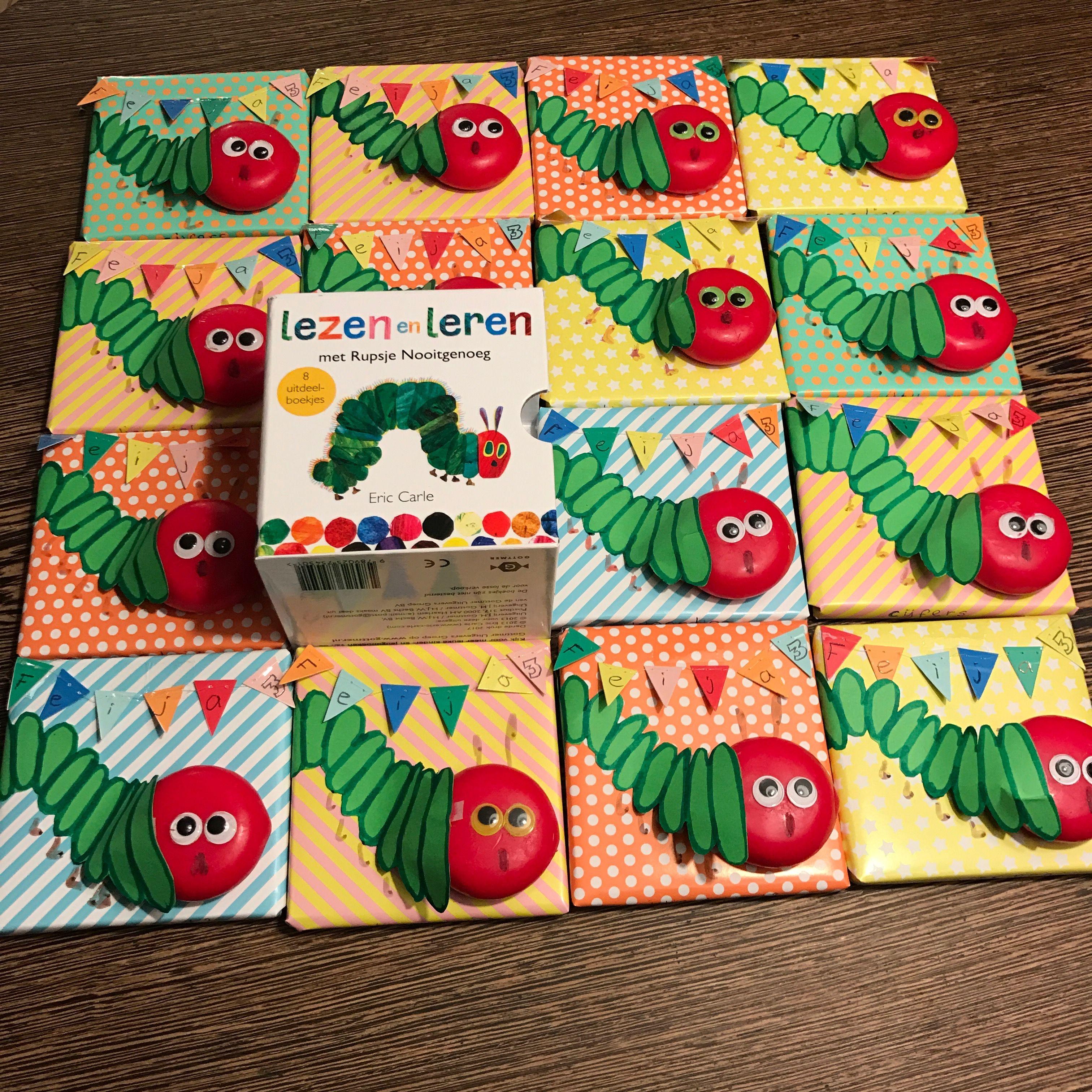 Super Traktatie rupsje nooitgenoeg op het kinderdagverblijf @RZ44