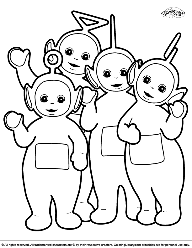 teletubbies coloring pages and sheets find your favorite cartoon coloring picures in the coloring library