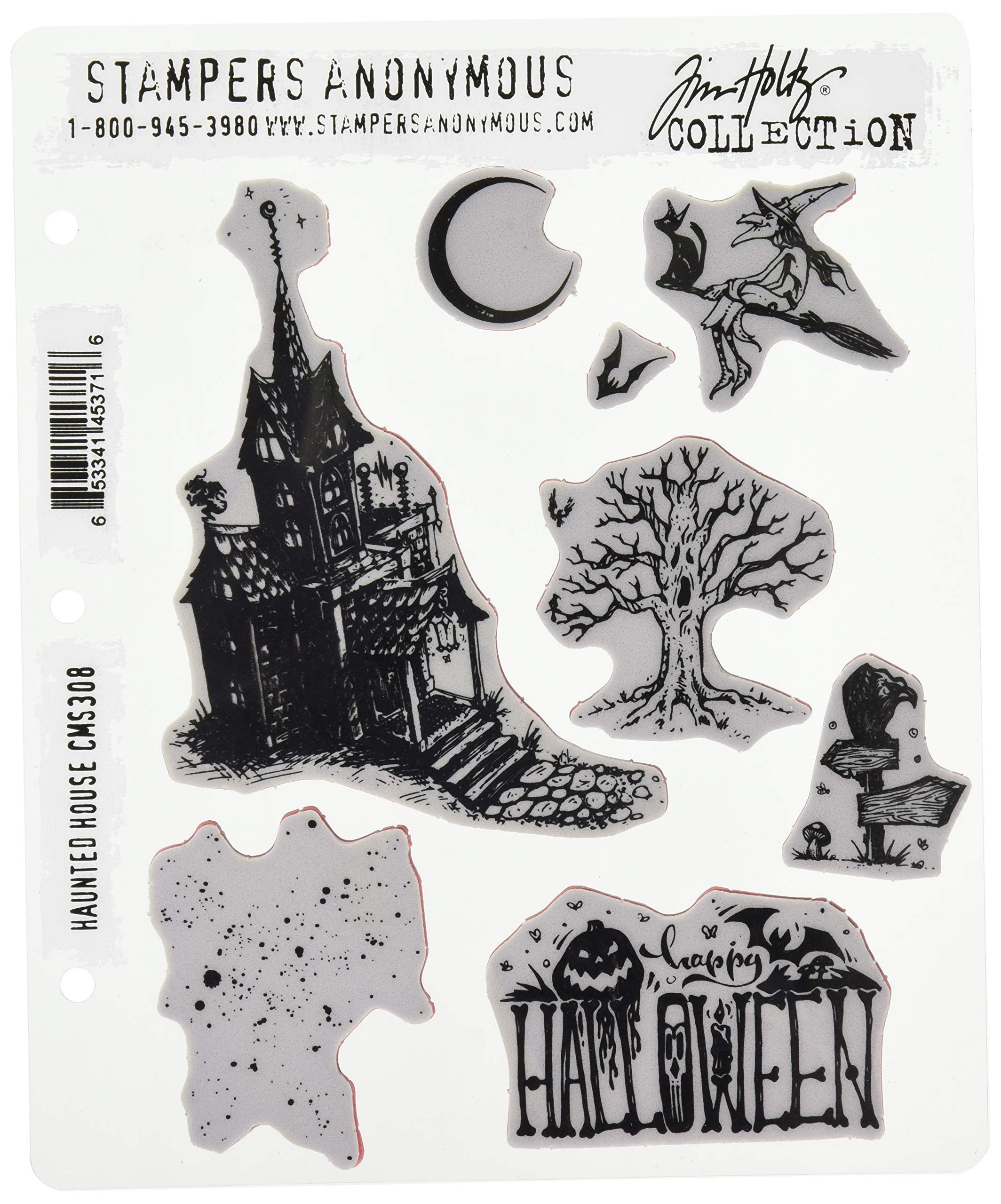 Tim Holtz Cling Stamps 7X8.5-Ultimate Grunge