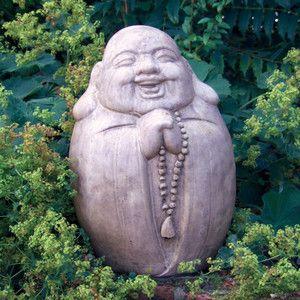 Large Garden Sculpture Praying Chinese Buddha Statue Ebay