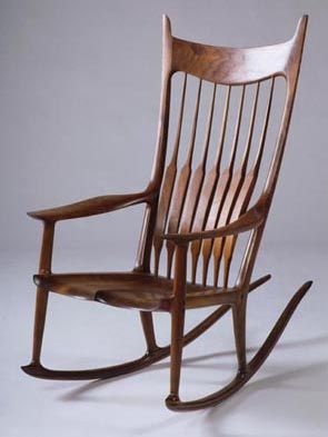 For those of you also interested in woodworking, Sam Maloof's designs are a perfect blend of craftsmanship, simplicity and beauty. Look him up!