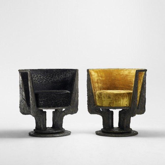 121: Paul Evans Chairs Model PE 141, Pair : Lot 121