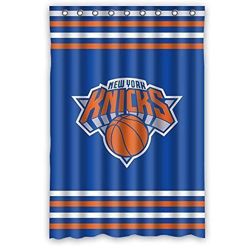 Sports Shower Curtain Custom Nba New York Knicks Stripes Blue