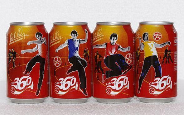 2004 Coca Cola 4 cans set from the Netherlands, Coke 360  Ruud van Nistelrooij