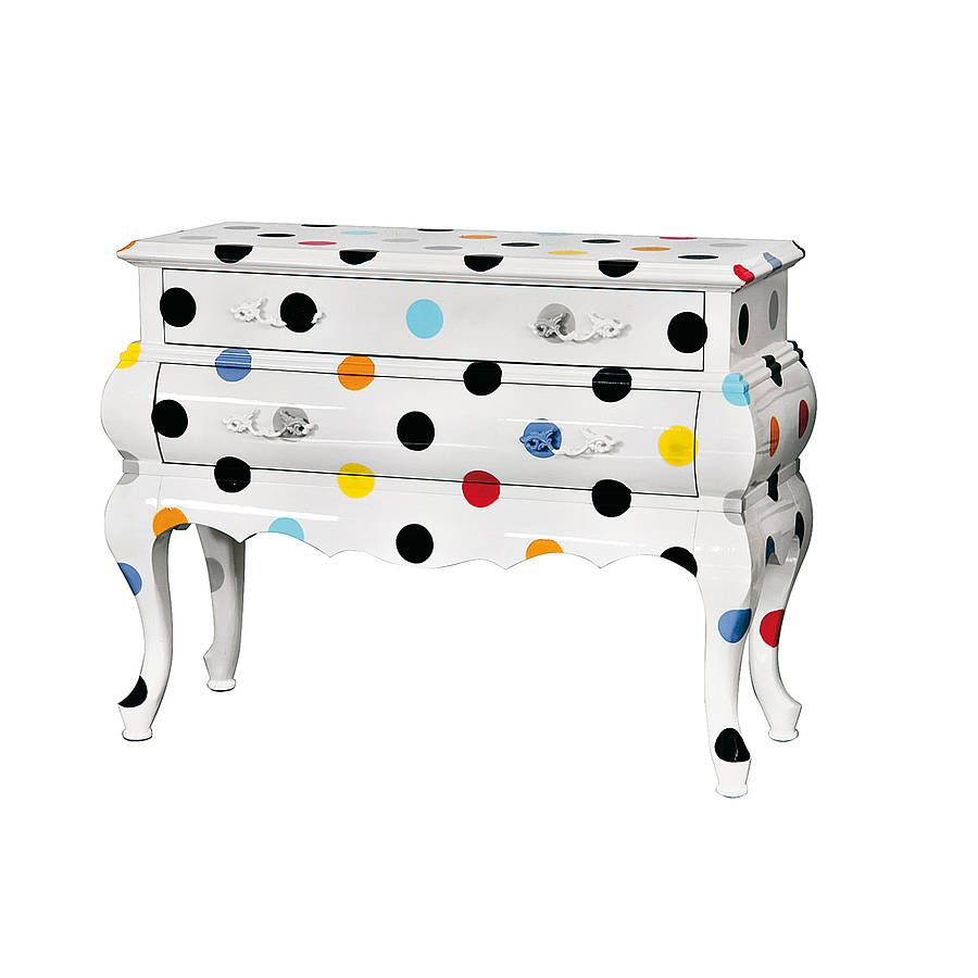 Cassettiera Trip Trumeau By Seletti.Spotted French Chest Funky Furniture Polka Dots Chest Of Drawers