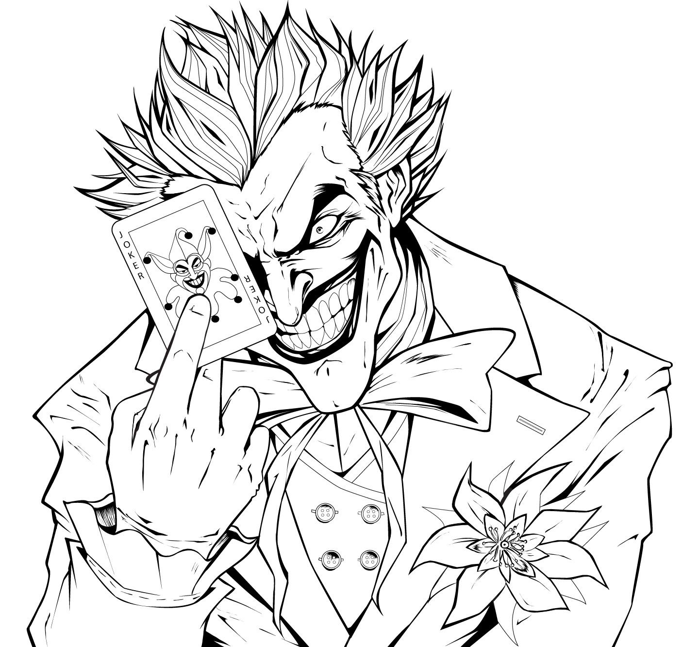 Batman colouring in online - Joker Coloring Pages Printable My Image Sense