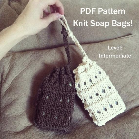 Soap Bag Knitting Pattern Soap Sack Pinterest Knitting