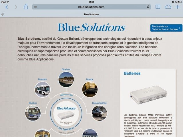 My E Life Now Bollore Presents Blue Solutions For Energy Storage