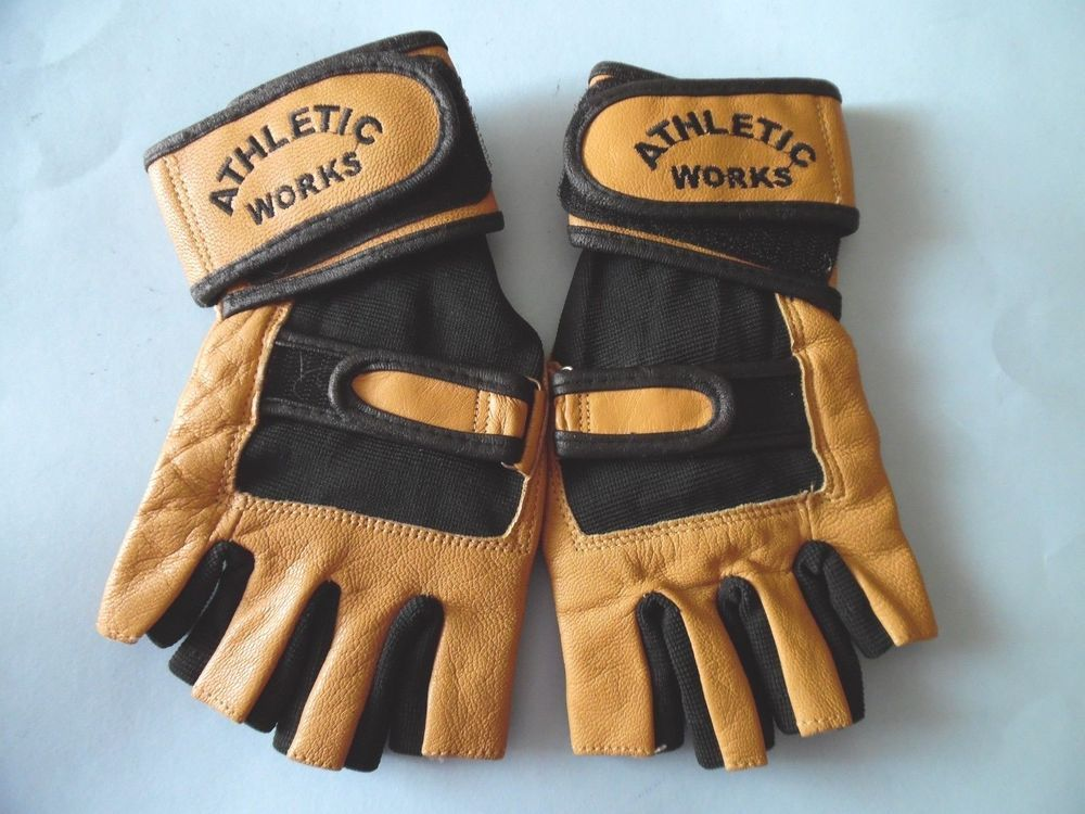 Wrist Wrap Weight Lifting Gloves Athletic Works 100