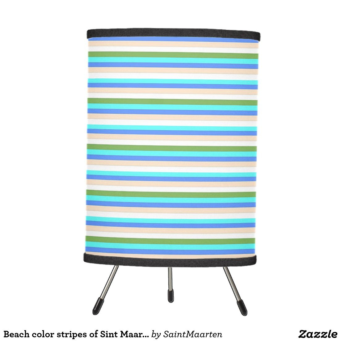Beach color stripes of Sint Maarten lamp