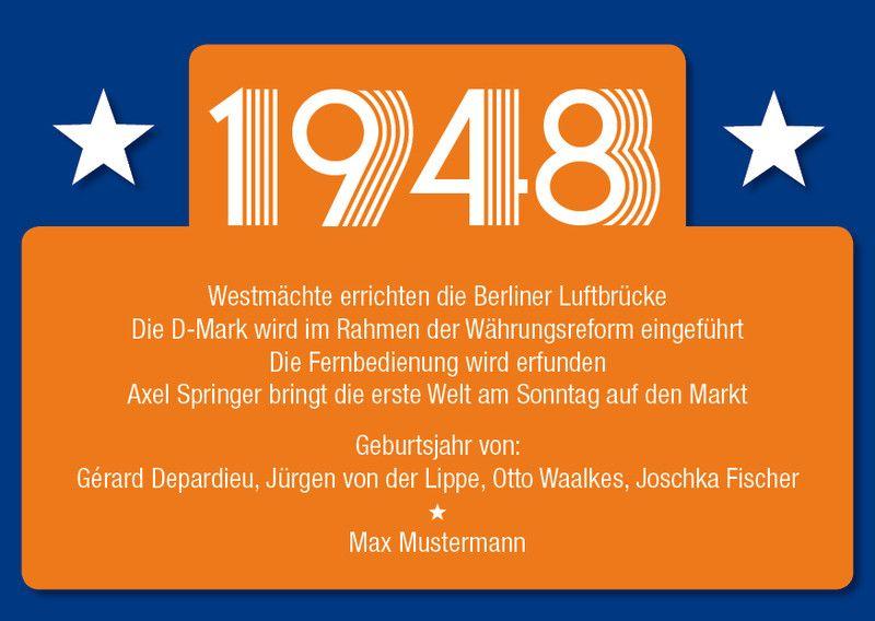 Einladung Zum 70 Geburtstag Jahrgang 1950 Ereignisse Und Promi