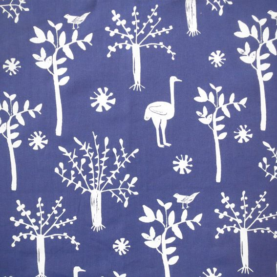 Kalk Bay Modern: Ostrich & Trees - Brand new Art-I-San textile design