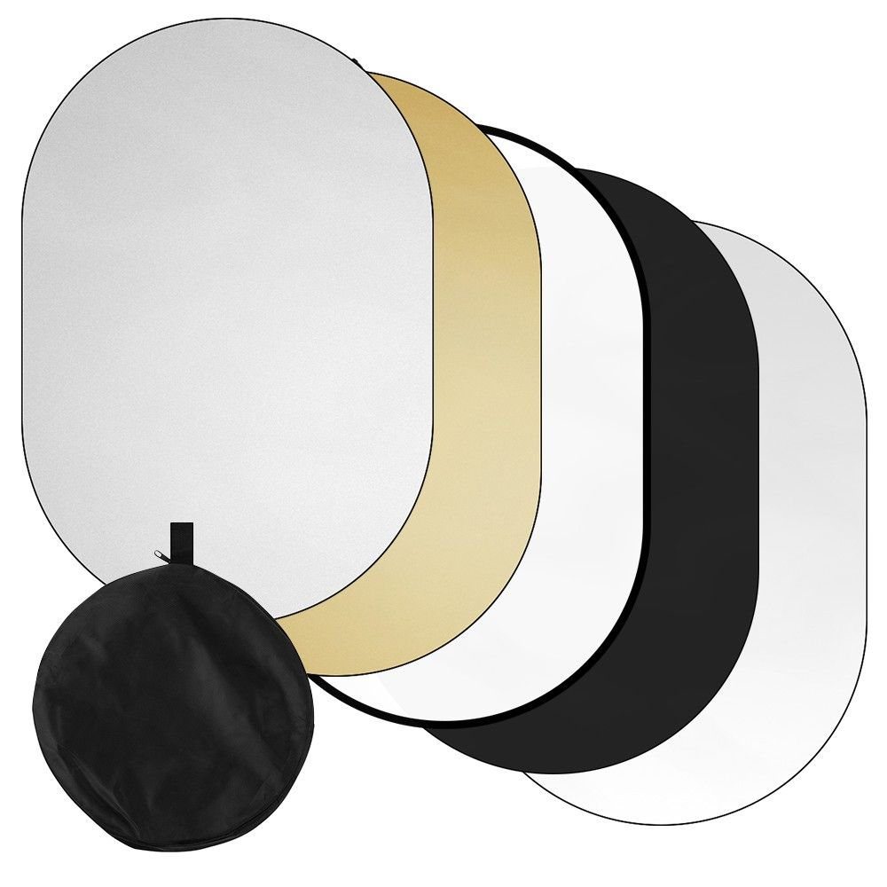 100 150cm 39 59inch Photography Light Reflector 5 In 1 Translucent Silver Gold Whit In 2020 Photography Light Reflector Light Photography Reflector Photography
