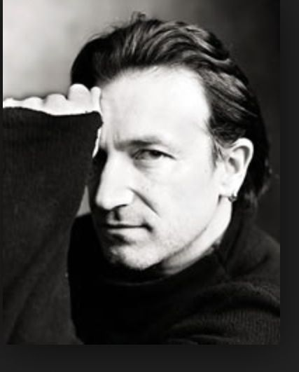 Bono (Paul Hewson) one of my favs, it's nice to see his eyes!