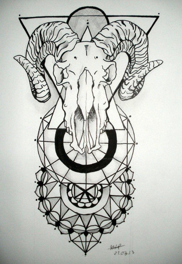7b74c821d goat and mandalas by LukrecjaFatal on DeviantArt | Tattoo | Skull ...