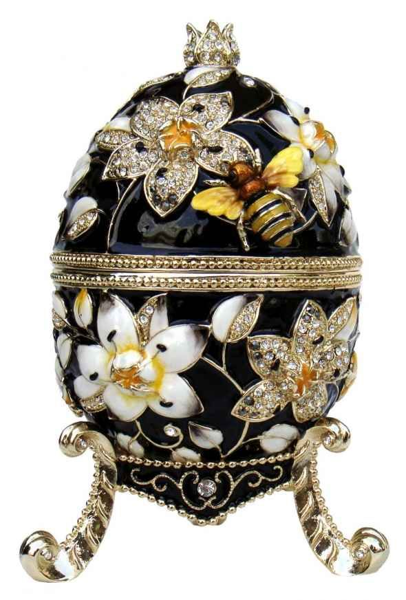 The estimated value of egg is in the region of 12 million pounds. Created by jeweller and goldsmith for the Russian Imperial family Carl Faberge.
