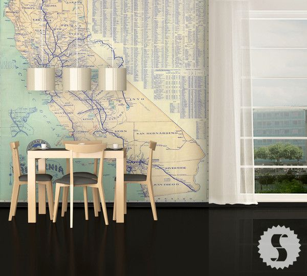 california map wall mural kids pinterest id e d co rangement maison et deco. Black Bedroom Furniture Sets. Home Design Ideas