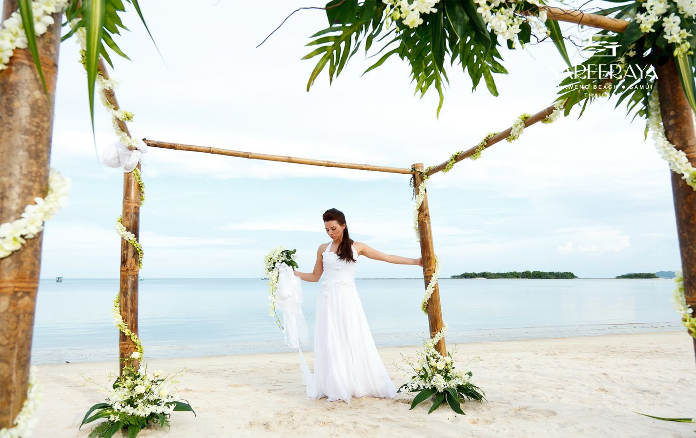 Stunning Beach Wedding Ceremony Ideas: Bamboo Canopy Speaks For Itself! A Stunning Addition To