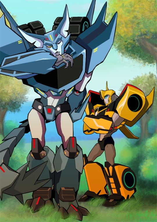 Steeljaw and Bumblebee | Transformers rid  | Transformers