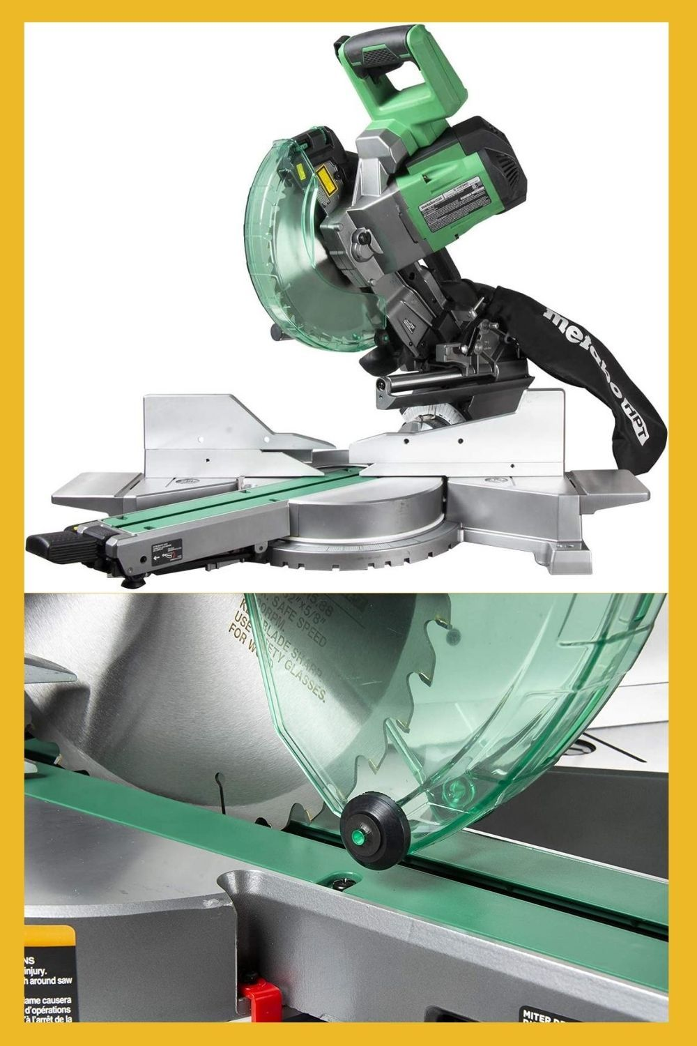 Metabo Hpt 10 Inch Sliding Miter Saw Dual Bevel Laser Marker C10fshct In 2020 Miter Saw Homeowners Guide Power Saws
