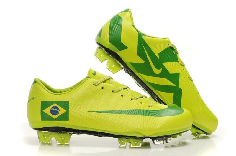 los angeles 8a482 a30ad Nike Mercurial Vapor VII Superfly III FG Soccer Cleats Yellow Green Brazil