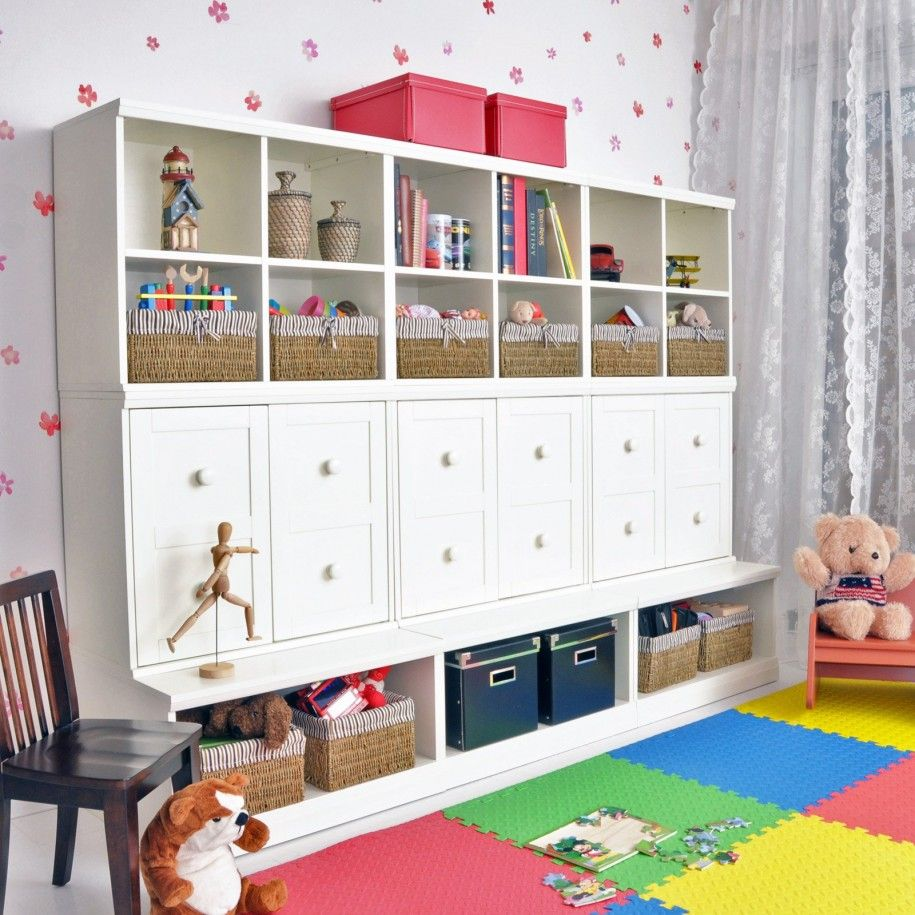 Chic Ikea Toy Storage For Contemporary Kids Furniture Ideas: Lovely Kids  Room Decoration With White
