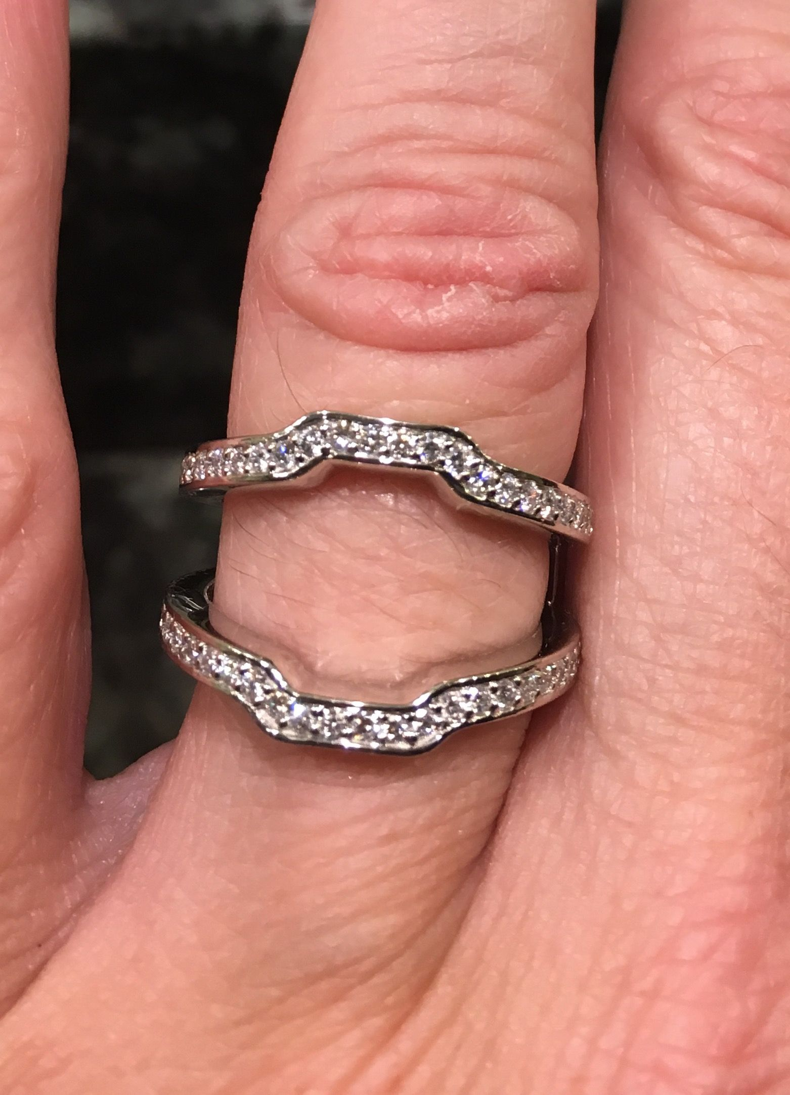 Pin by Laura Delgado on Halo engagement ring with jacket/enhancer ...