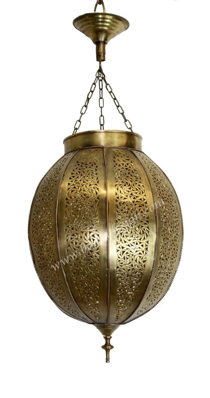 Badia Design Inc Store   Hand Punched Hanging Brass Lantern   LIG204,  $354.00 (http