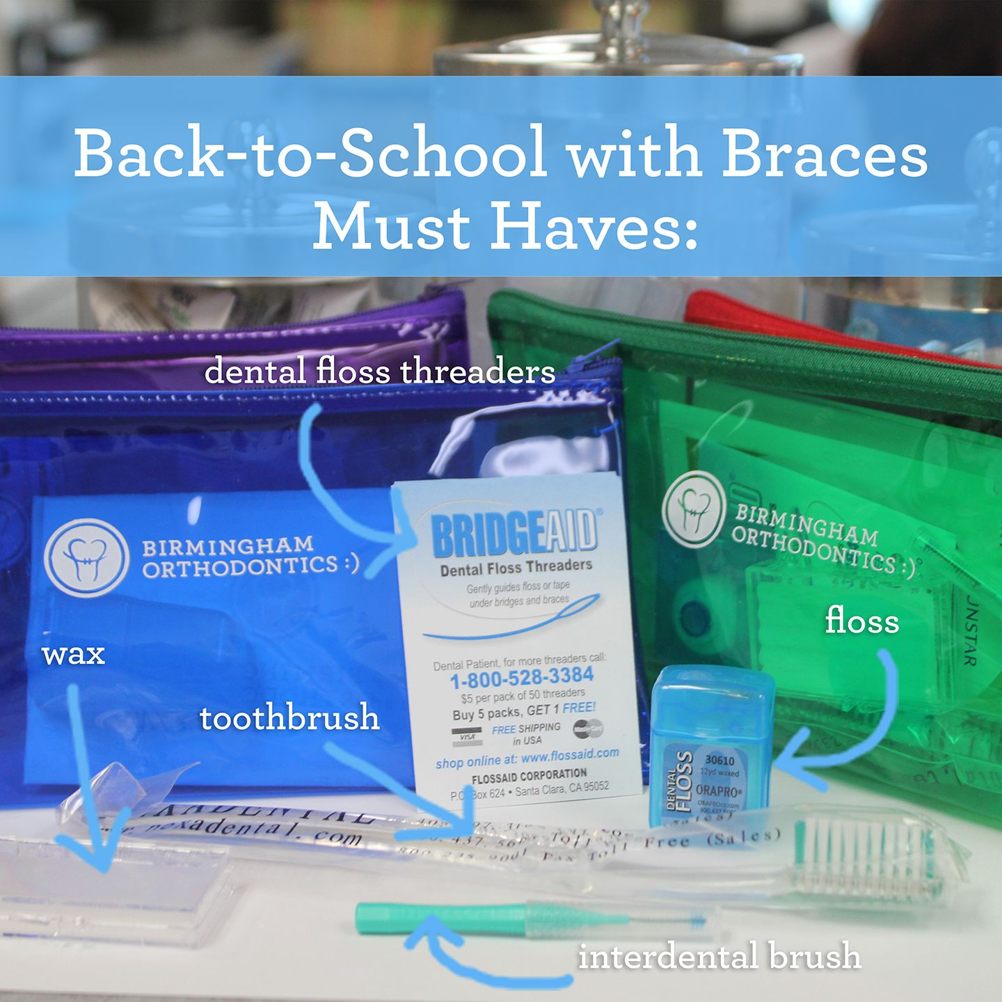 how to clean your braces at school