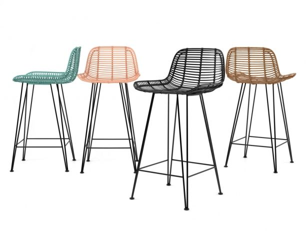 Rattan Barstool 3d Model By Design Connected Bar Stools Bar