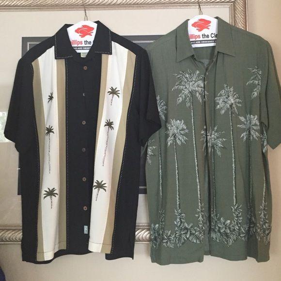 Two size medium palm tree Hawaii shirts⭐️ Two size medium palm tree Hawaii shirts new without tags ‼️❤️ Tops