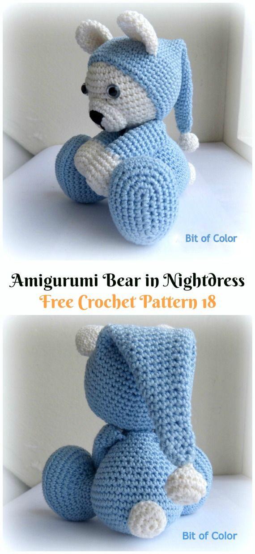 Amigurumi Crochet Teddy Bear Toys Free Patterns #crochetbearpatterns