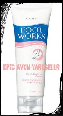 New Avon Foot Works Deep Moisture Cream 2.5 FL OZ