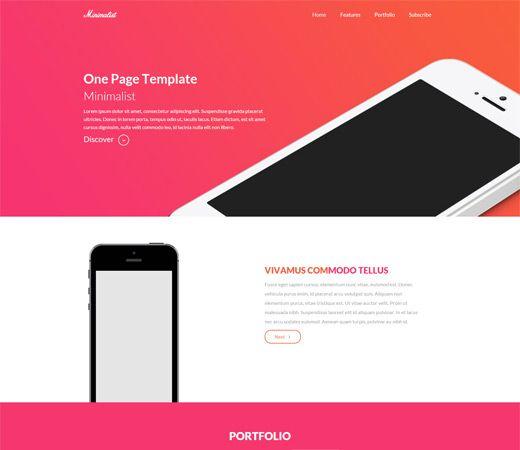 Minimalist A Onepage Multipurpose Flat Bootstrap Responsive - Minimalist website template