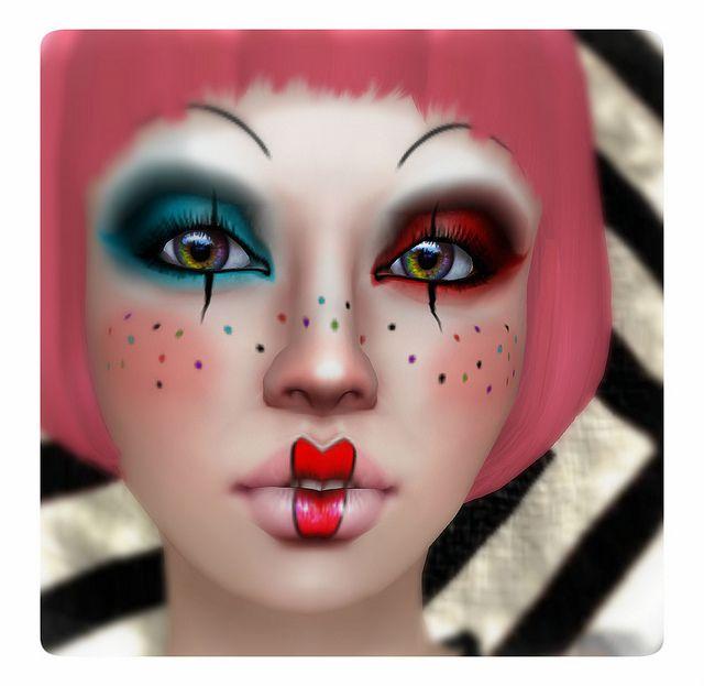 Adorable Clown Girl Girls, Makeup and Halloween makeup - clown ideas for halloween