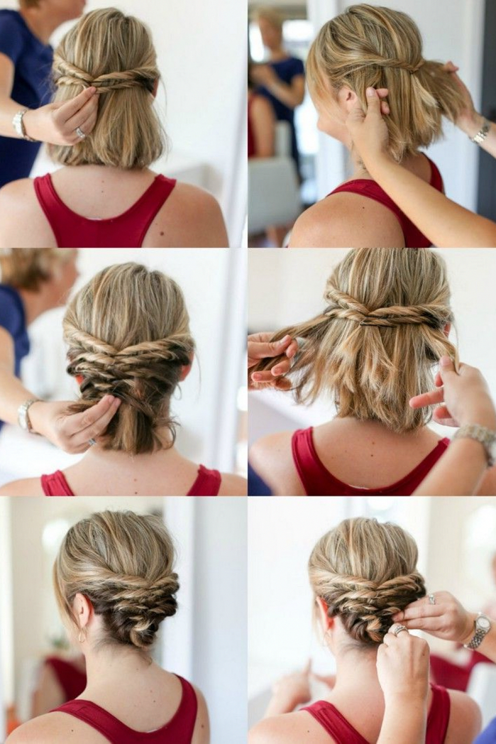 Braid Hairstyles Updo Pony Tails Braid Hairstyles Updo Simple Braid Hairstyles Updo Bun Braid Hai Short Hair Styles For Round Faces Hair Styles Short Hair Updo